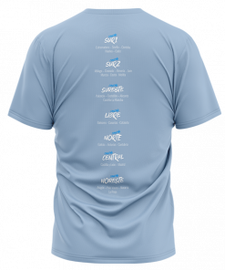 Camiseta Zonas de La Cancha de entresdosuno Azul