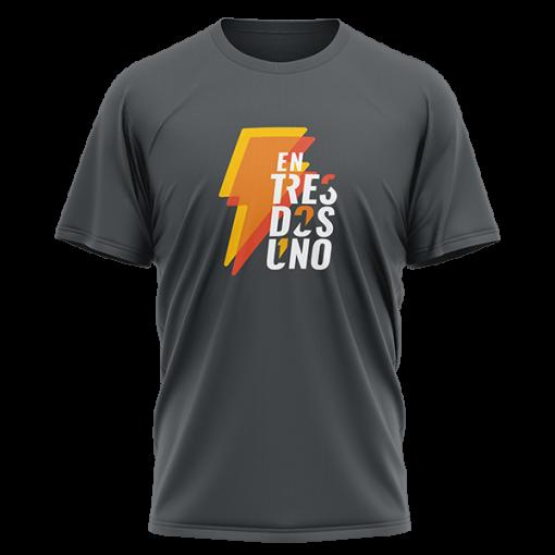 Camiseta Rayo de entresdosuno Gris